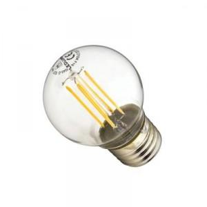 LED žárovka 4W 4xCOS Filament E27 470lm CCD TEPLÁ BÍLÁ